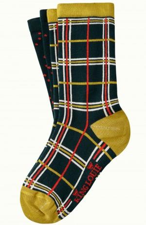 Socken 2er-Pack, 06548-201, green-multi