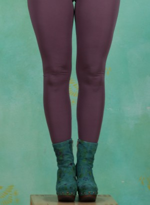 Leggins, Basic Lace, black-plum