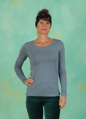 T-Shirt, Basic Cotton Stretch, bluestone