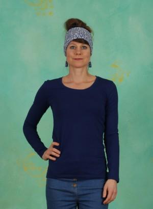 Shirt, Basic Cotton Stretch, blue-depths