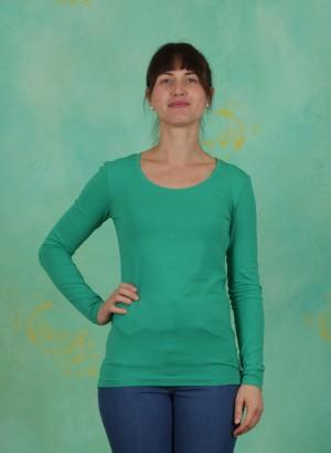 Shirt, Basic Cotton Stretch, viridis