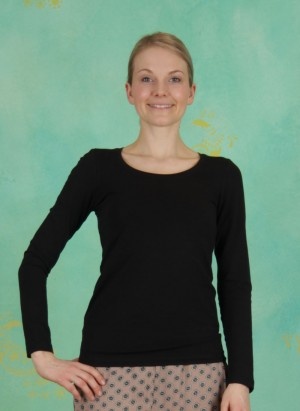 T-Shirt, Basic Cotton Stretch, black
