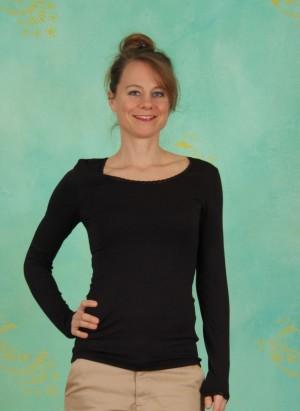 T-Shirt, Basic Lace, black
