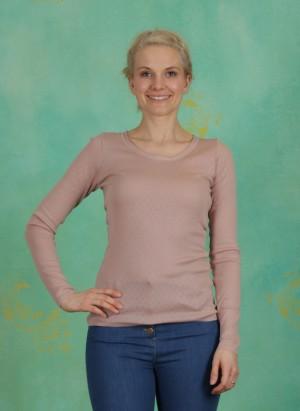Shirt, Basic New Pointelle Jersey, adobe-rose