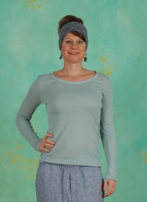 T-Shirt, Basic New Pointelle Jersey, blue-surf