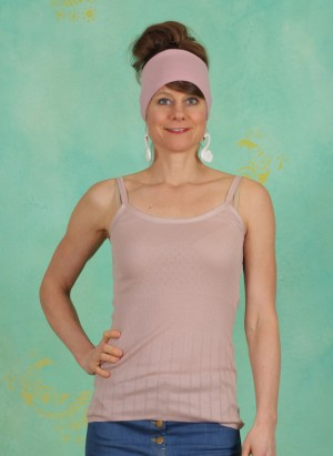 Top, Basic New Pointelle Jersey, adobe-rose