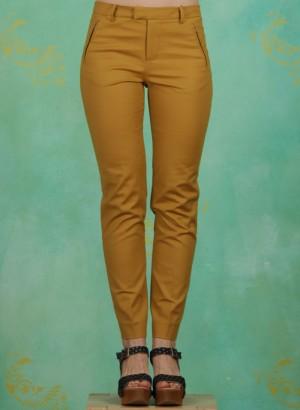 Hose, Cotton Stretch, mustard-gold