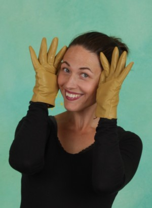 Handschuhe, Colorific Leather Glove, mustard-gold