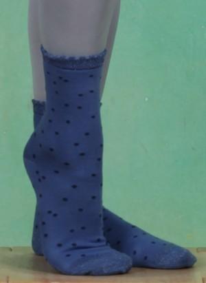 Socken, Dotted Sock, dutch-blue
