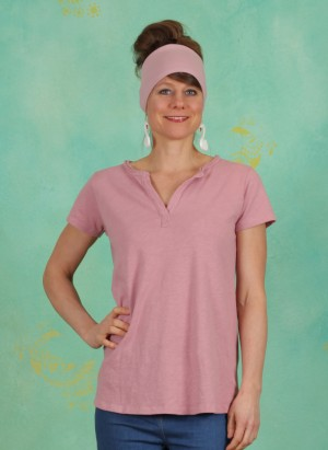 T-Shirt, Basic Heavy Cotton Slub, foxglove