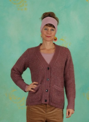 Cardigan, Winter Mohair, nostalgia-rose