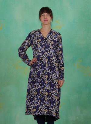 Kleid, Floral Moss, print-blue