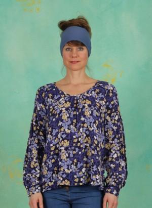 Bluse, Floral Moss, print-blue