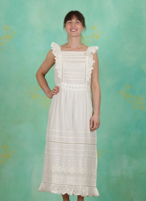 Kleid, Broderie Anglaise Cotton, birch