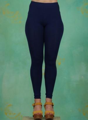 Leggins, Basic Cotton Stretch, blue-depths