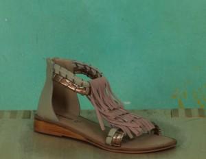 Schuhe, Fringy Sandal, contour-blush