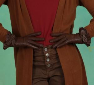Handschuhe, Leather Gloves, ginger-bread