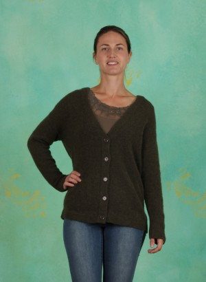 Cardigan, Kaitlyn, crocodile-green