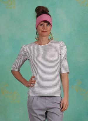 Shirt, Lila, light-grey-melange