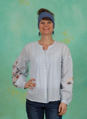Bluse, Kiara Blouse, cashmere-blue