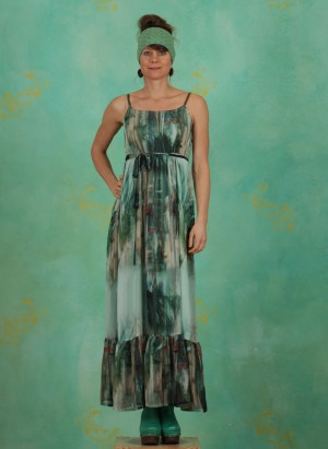 , Jeanne Long Dress, malachite-green