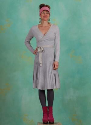 Kleid, Clary Knit Dress, light-grey-melange