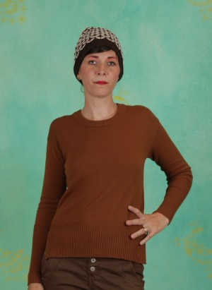 Pullover, Knit Pullover, bronzed