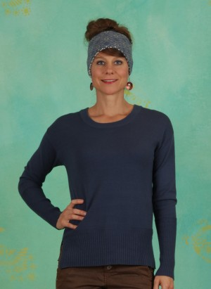 Pullover, Knit Pullover, dark-denim