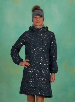 Mantel, Rain Jacket, deep-ocean-gold-confetti