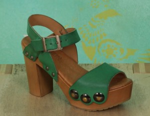 Schuhe, Carmen, roma-grün