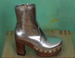 Schuhe, Isabell, metallic-silber