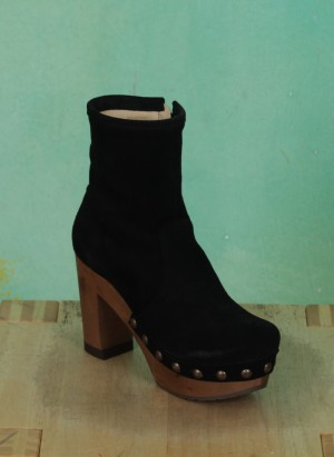 Schuhe, Isabell, suede-schwarz