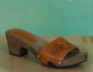 Schuhe, 1206-055, roma-print-gelb-braun