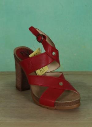 Schuhe, Boxy, lipstick-red