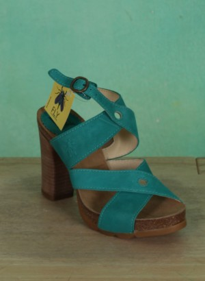 Schuhe, Boxy, verdigris