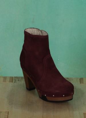 Schuhe, Amber, suede-burgundy