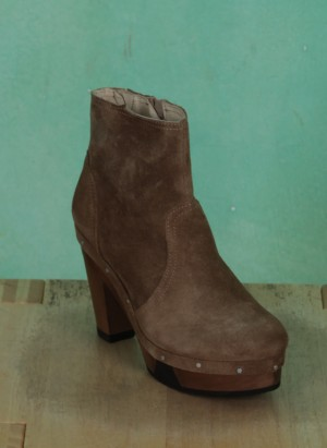 Schuhe, Amber, suede-taupe