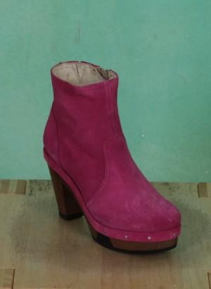 Schuhe, Amber, suede-fuchsia