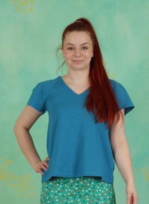 Shirt, Kom, blue