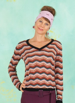 Pullover, 20W6282, brown-stripes