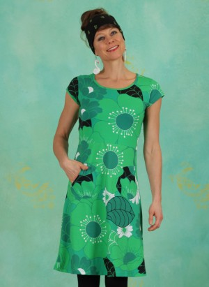 Kleid, 21105-04, green-multi