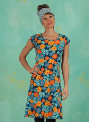 Kleid, 21105-06, blue-multi