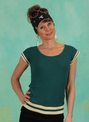Top, 21S6799, green