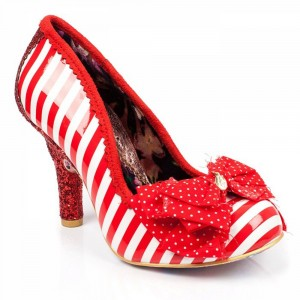 Schuhe, Ascot, red-white