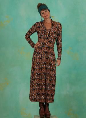 Kleid, 385454, rust-brown