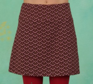 Rock, Stage Time Skirt, pink-burgundy