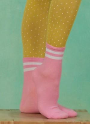 Strümpfe, 2-Stripe-Pinky, pink