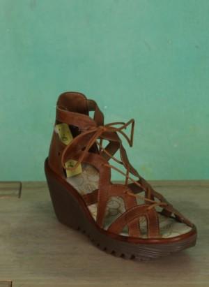 Schuhe, Yeli, tan