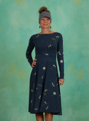 Kleid, Organic Dress, deep-ocean-meadow