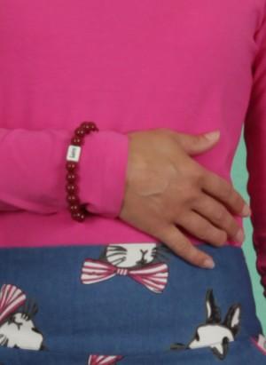 Armband, Mini Ruby Love, ruby